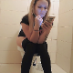 A pretty Bulgarian girl sits down on a toilet and immediately takes a wet-sounding shit that comes out with explosive force. She continues to push while looking at her cell phone and vaping. Some brown seen on TP. About 720P HD. About 10 minutes.